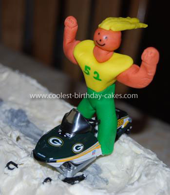 Homemade Snowmobile Racing Cake