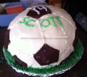 Super Coolest Soccer Ball 14Th Birthday Cake Personalised Birthday Cards Arneslily Jamesorg