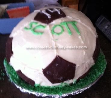 Homemade Soccer Ball 14th Birthday Cake