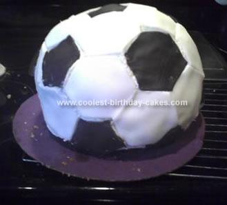 Homemade Soccer Ball Birthday Cake