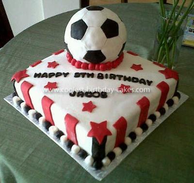 Coolest Soccer Ball Birthday Cake