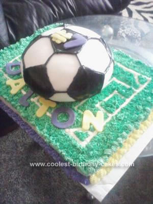 Homemade Soccer Ball Birthday Cake