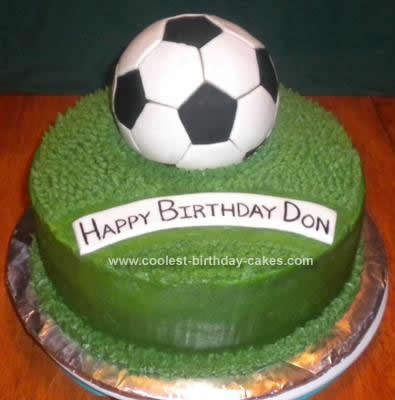 Admirable Coolest Soccer Ball Cake Funny Birthday Cards Online Overcheapnameinfo