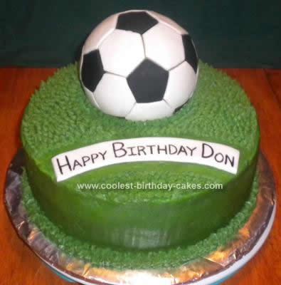 Homemade Soccer Ball Cake