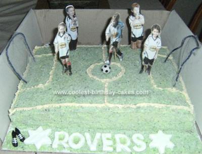 Homemade Soccer Birthday Cake