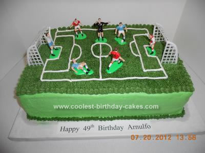 Homemade Soccer Birthday Cake