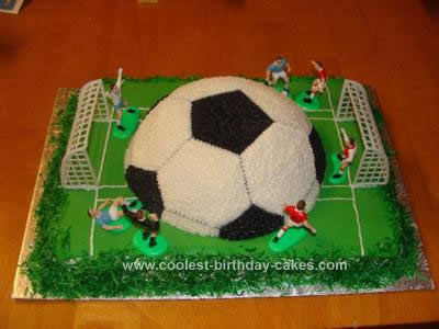 Homemade Soccer Birthday Cake Idea