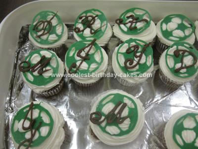 Homemade Soccer Cupcakes