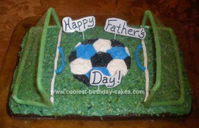 Homemade Soccer Dad's Father's Day Cake
