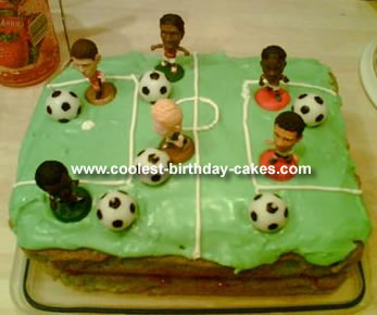 Magnificent Cool Homemade Soccer Field Cake Funny Birthday Cards Online Aboleapandamsfinfo