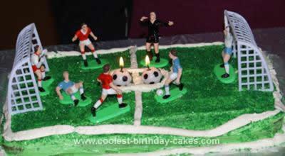 Homemade Soccer Field Cake