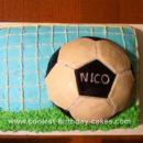 Homemade Soccer Goal Cake