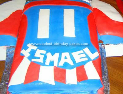 Homemade Soccer Jersey Birthday Cake