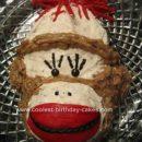 Homemade Sock Monkey Cake Design