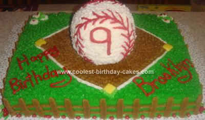 Homemade Softball Cake
