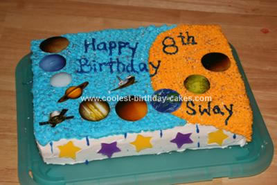 Homemade Solar System Birthday Cake