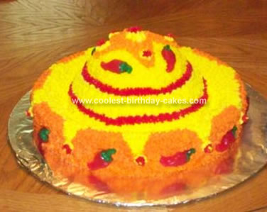 Homemade Sombrero Birthday Cake