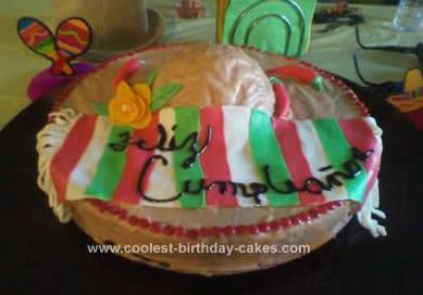Homemade Sombrero Cake