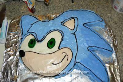 Homemade Sonic Birthday Cake