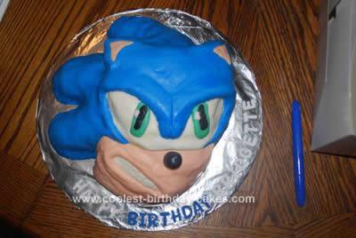 Groovy Cool Homemade 3D Sonic Birthday Cake Funny Birthday Cards Online Elaedamsfinfo