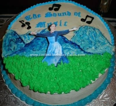 Fabulous Coolest Sound Of Music Cake Personalised Birthday Cards Bromeletsinfo