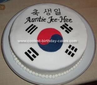 Homemade South Korea Birthday Cake