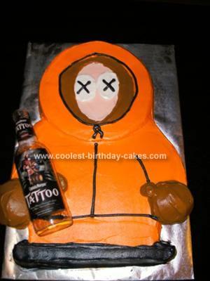 Homemade South Park Birthday Cake