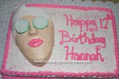 Admirable Coolest Spa Birthday Cake Personalised Birthday Cards Xaembasilily Jamesorg