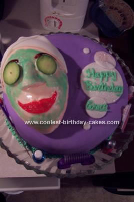 Homemade Spa Girl Cake