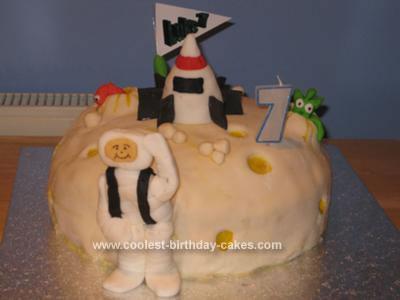 Homemade Space Birthday Cake