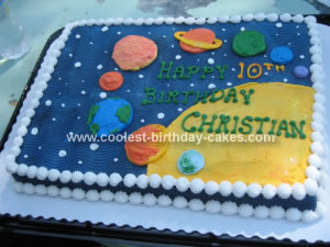 Coolest Space Birthday Cake