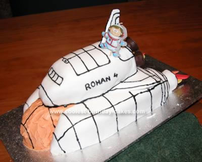 Homemade Space Shuttle Birthday Cake