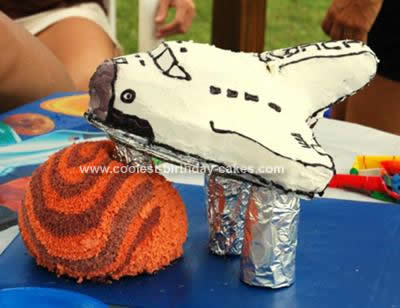 Homemade Space Shuttle Birthday Cake Design