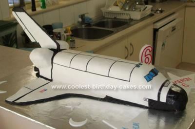 Homemade Space Shuttle Cake