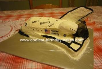 Sensational Coolest Space Shuttle Cake Personalised Birthday Cards Vishlily Jamesorg