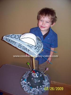 Homemade Spaceship Birthday Cake