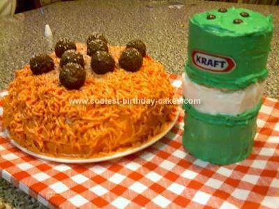 Homemade Spaghetti and Meatball Cake
