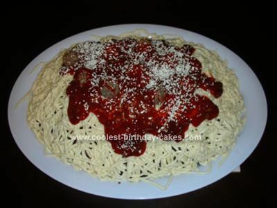 Homemade Spaghetti Cake