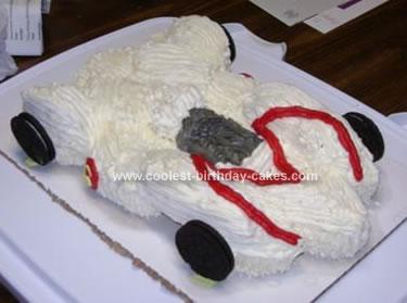 Homemade Speed Racer Cake