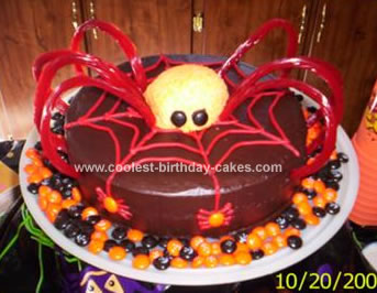 Swell Spooky Homemade Spider Birthday Cake Funny Birthday Cards Online Barepcheapnameinfo