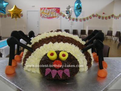 Homemade Spider Birthday Cake