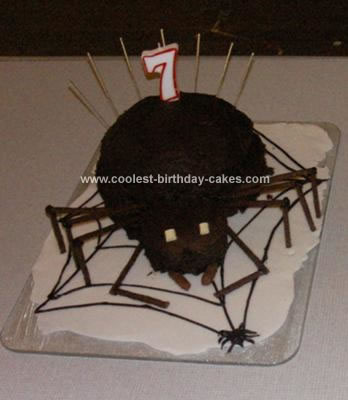 Homemade Spider Birthday Cake