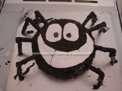 Swell Coolest Homemade Spider Cakes Funny Birthday Cards Online Inifofree Goldxyz