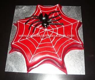 Homemade Spider Web Birthday Cake