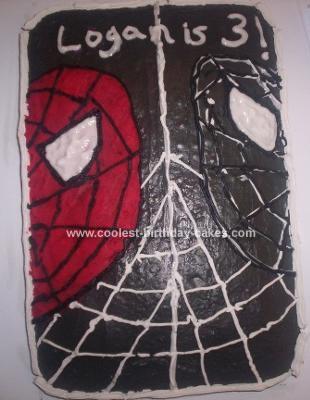 Homemade Spiderman and Venom Cake