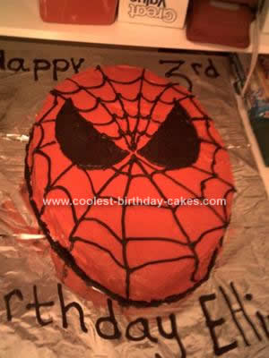 Homemade Spiderman Birthday Cake