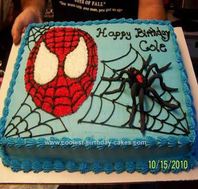 Homemade Spiderman Birthday Cake Idea