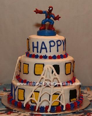 Spiderman Tiered Cake