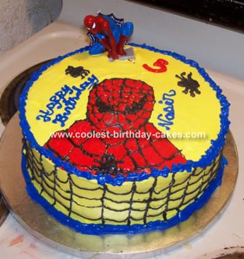 Grandson's Spiderman Cake