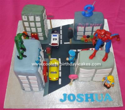 Joshua's Spiderman Cake